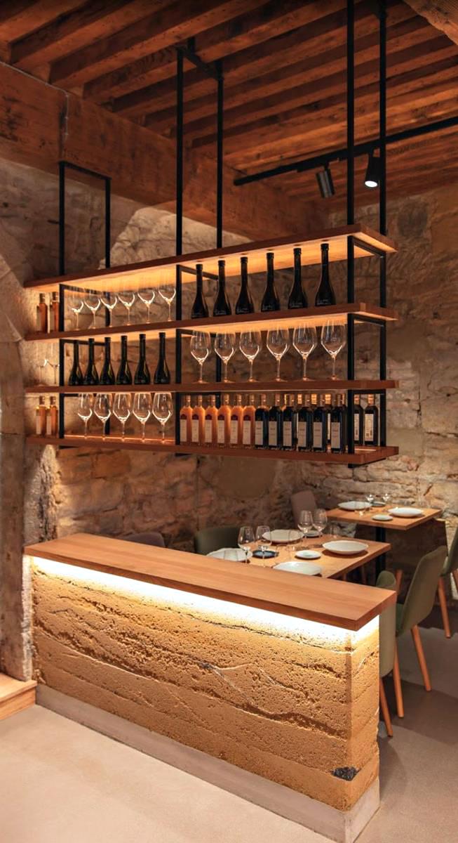 Culina Hortus restaurant, Lyon, France - Concepteur lumière : Victor Vieillard, Studio by Night © Studio by night