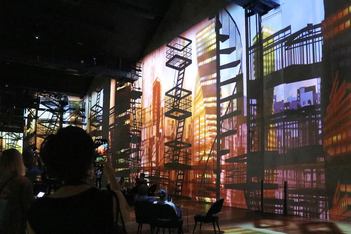 Ombres Douces, Immersive Digital Art Festival Paris 2019, Atelier des Lumières - équipe artistique et créateur vidéo : Spectre Lab © Vincent Laganier