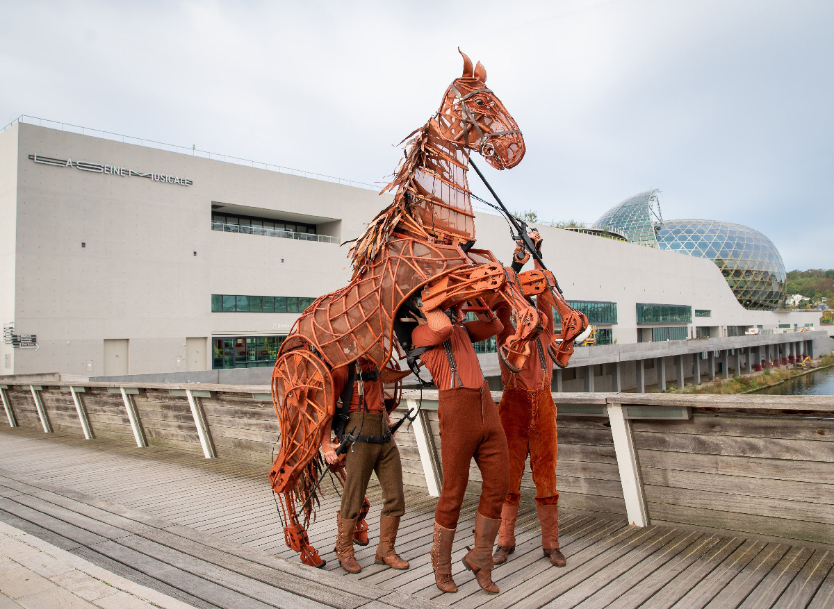 War Horse 2019, cheval Joey - Handspring Puppet Company - Seine Musicale, Paris © Jessica Rodrigues