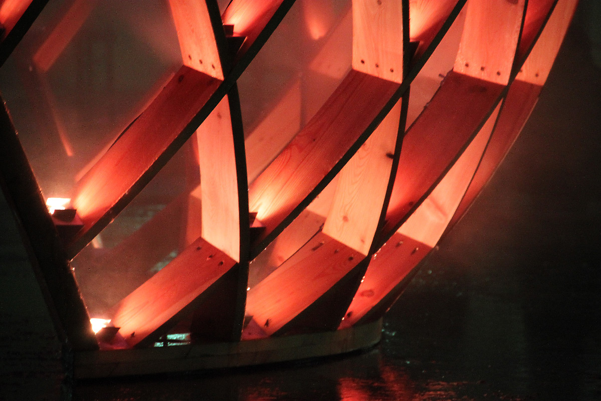 OVO, esplanade du gros caillou, Lyon - Scénographe lumière : Koert Vermeulen et Marcos Vinals - Fête des lumières 2010 © Vincent Laganier