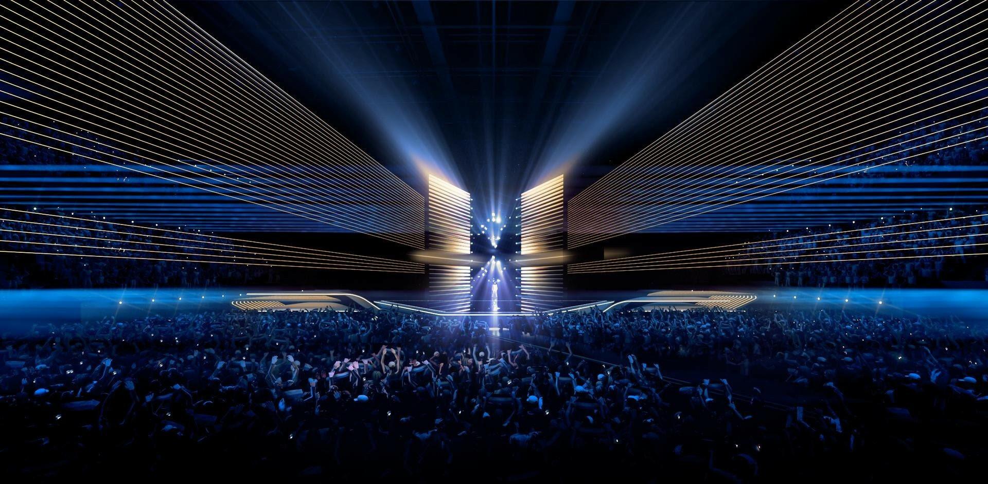 Eurovision 2020 - scénographie de la scène - Scénographe : Florian Wieder