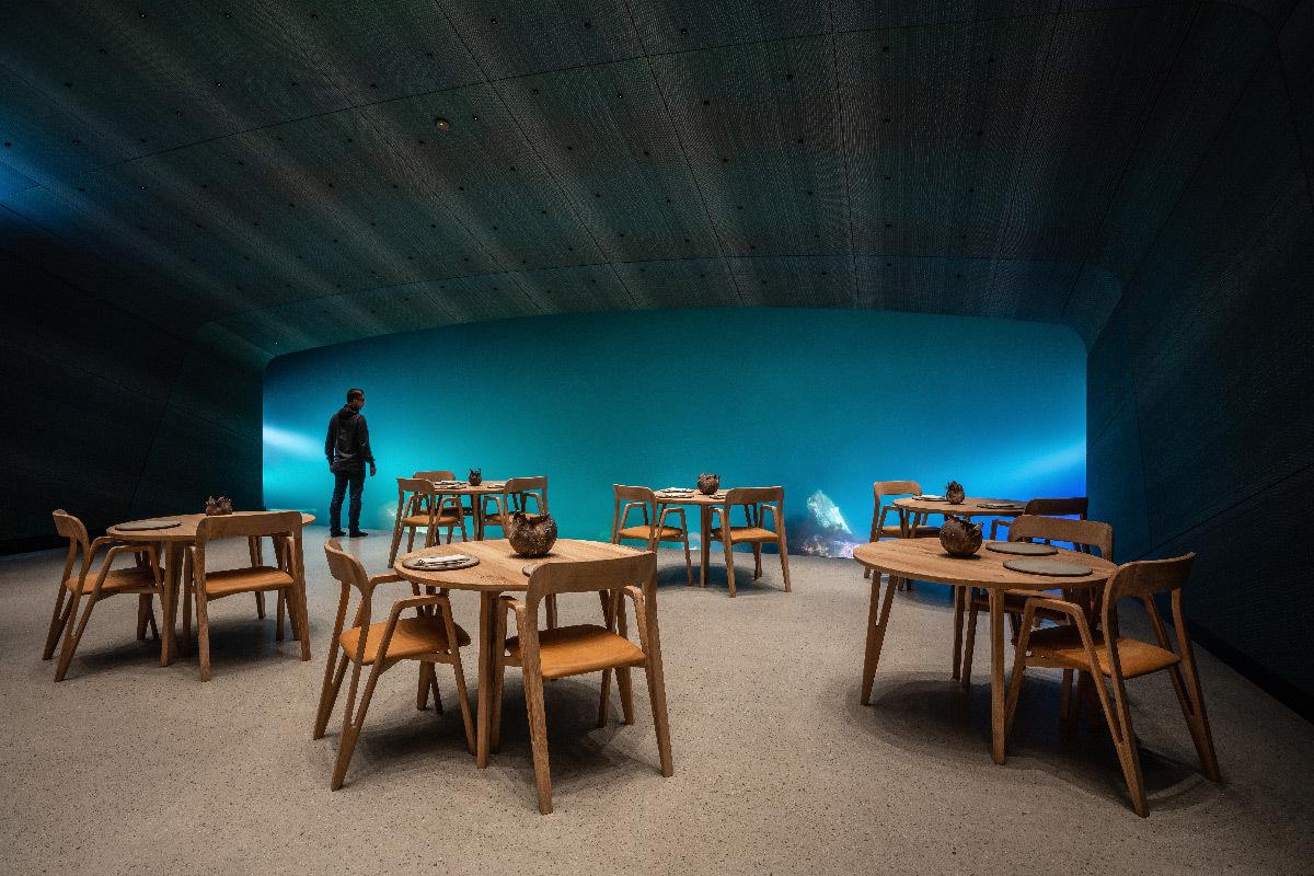 Under, restaurant sous-marin, Lindesnes, Norvège - Architecte : Snøhetta - Concepteur lumière : AF Lighting