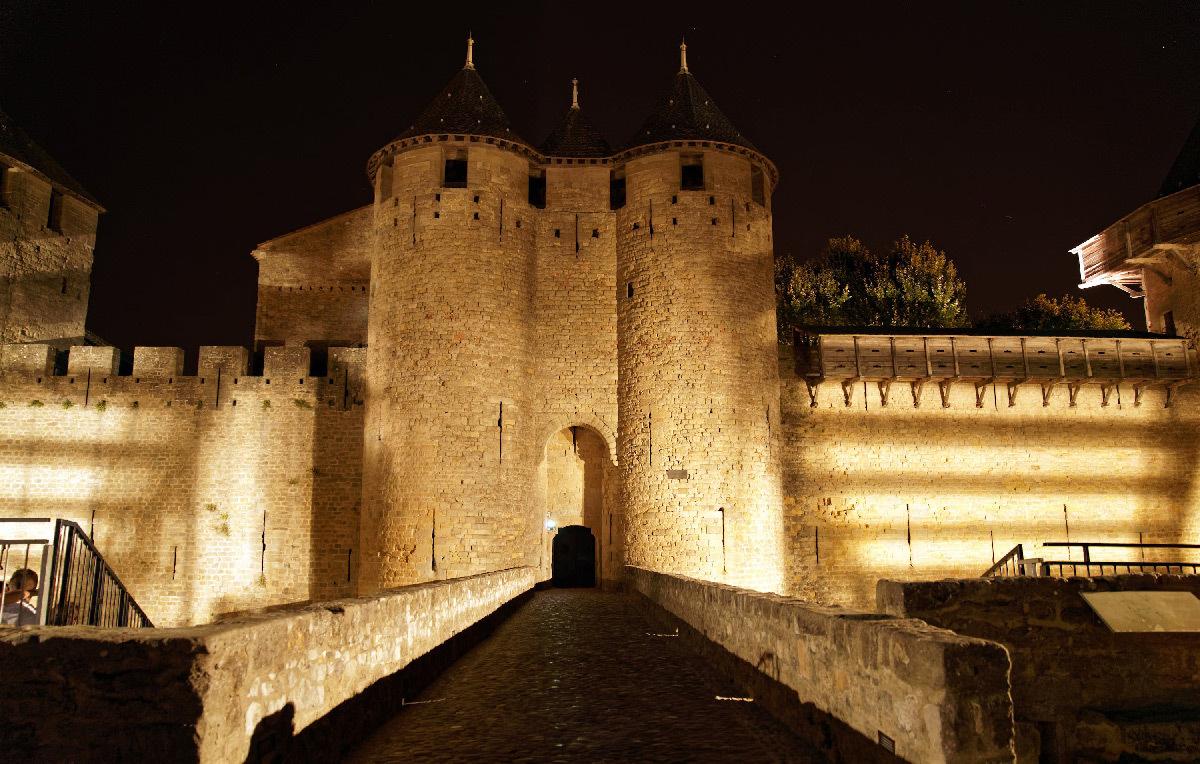 Château comtal de Carcassonne, parcours nocturne