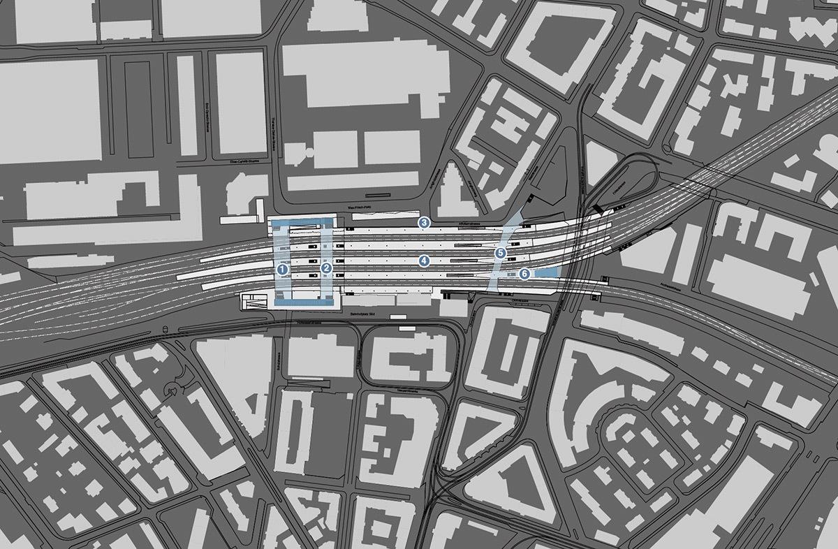 Gare de Zurich Oerlikon rénové par 10:8 Architekten