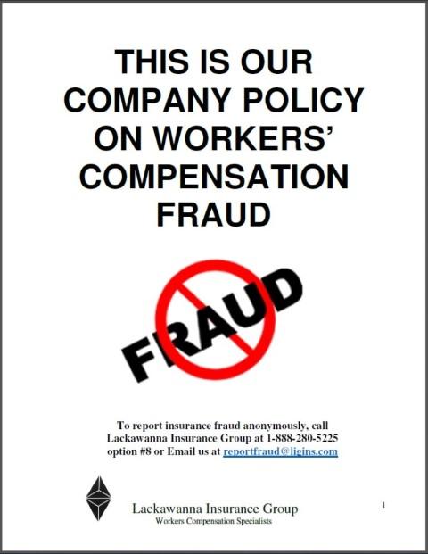 fraud posters lackawanna insurance group