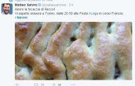 Matteo Salvini confonde la focaccia genovese con quella di Recco