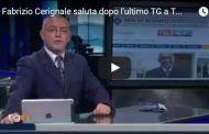 TeleNord - Fabrizio Cerignale saluta dopo l'ultimo TGN