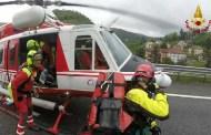 Sciarborasca, cade da 15 metri: donna in elisoccorso al San Martino
