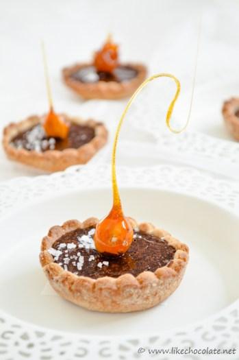 Mini tart s lješnjacima i čokoladom (2)