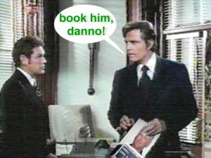 Book him, Danno!