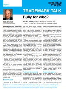 Why trademark bullying works