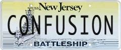 CONFUSION License Plate