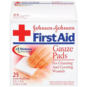 Johnson and Johnson gauze pads