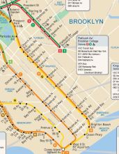 South Brooklyn section of MTA Subway Map