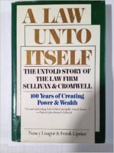 Sullivan and Cromwell book