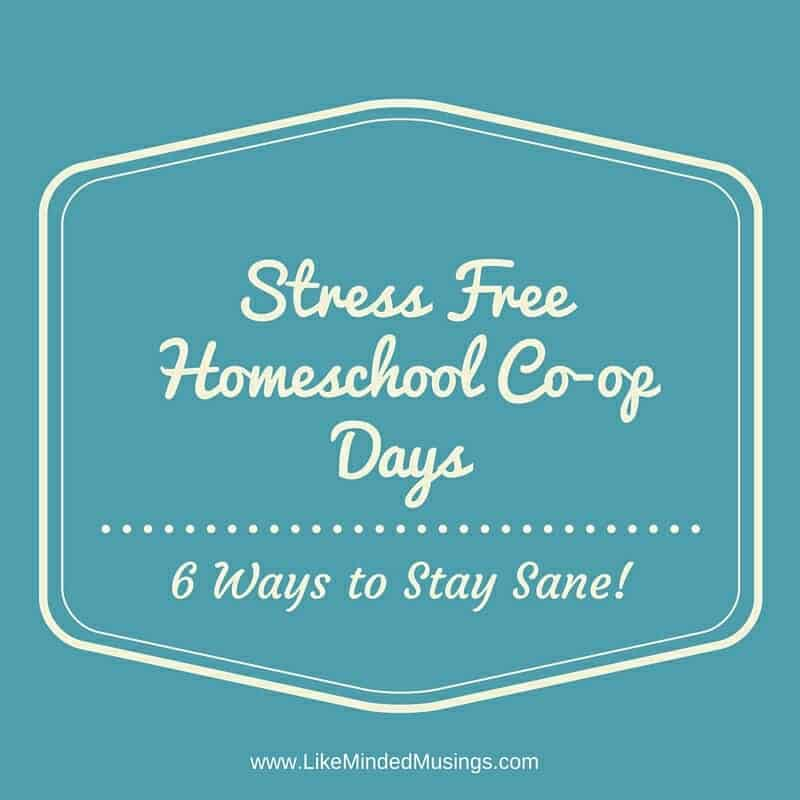 Stress Free Homeschool Co-op Days Like Minded Musings