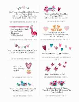 God's Girls Love Notes Scripture Cards Like Minded Musings
