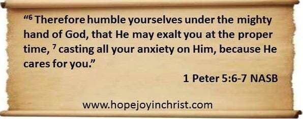 1 Peter 5 6-7 God Cares for You