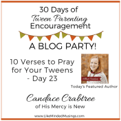 Tween Parenting Blog Party Author Box Candace Crabtree Like Minded Musings