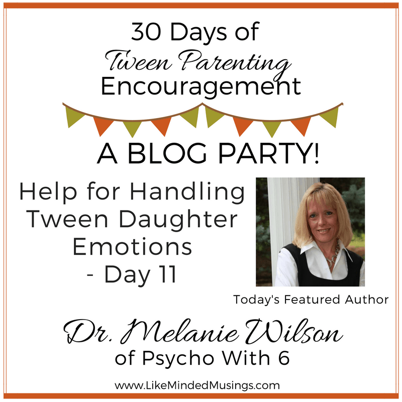 Tween Parenting Blog Party Author Box Dr Melanie Wilson Like Minded Musings