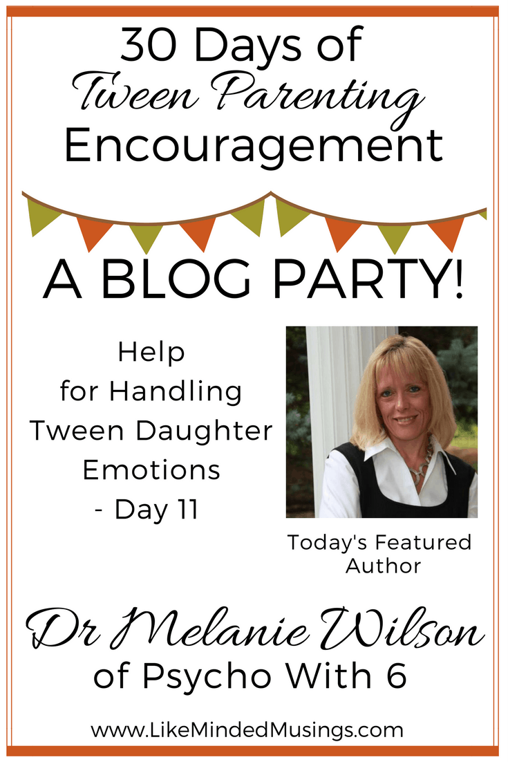 Help for Handling Tween Daughter Emotions