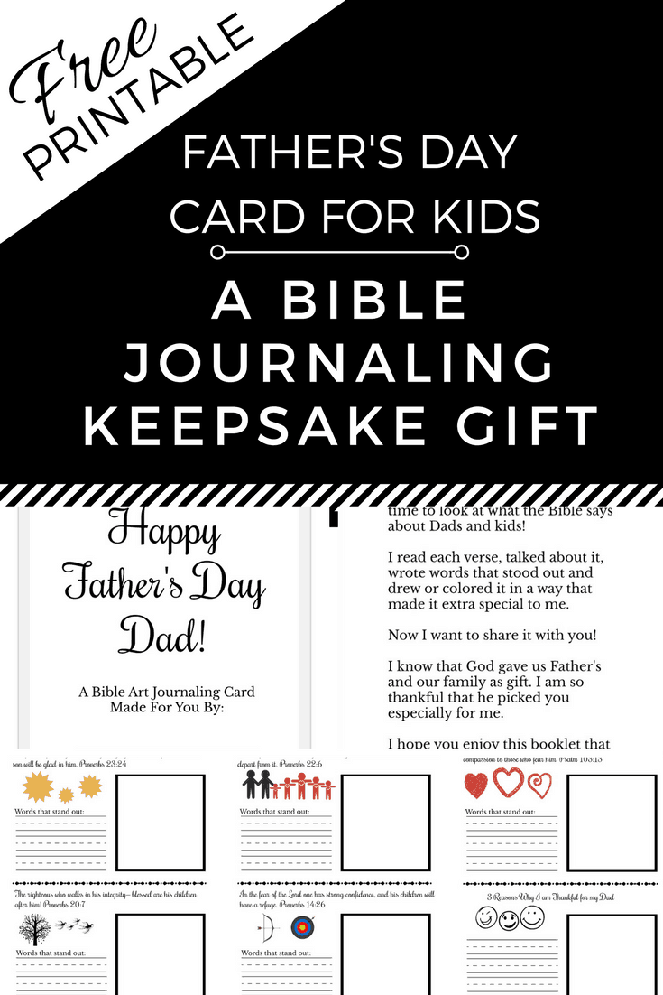 Free Printable Father's Day Card - A Bible Journaling Keepsake Gift!