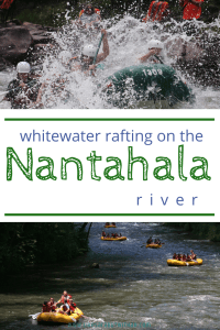The Nantahala River in Bryson City, NC makes for family-friendly whitewater fun.