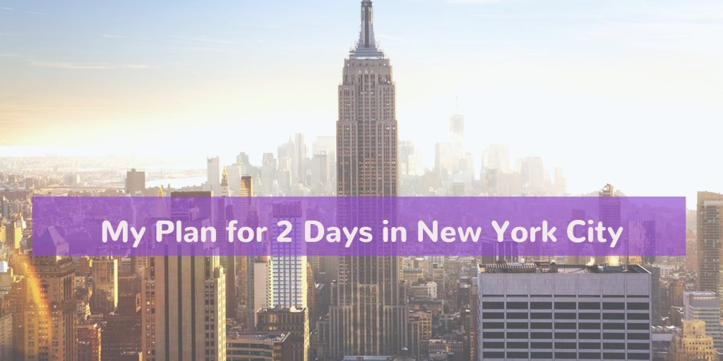 This is my plan for our upcoming vacation to New York City! We have 2 full days to spend exploring all the city has to offer. Here you can find my detailed itinerary of planned activities including which subway lines to navigate the city!