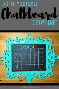 Make yourself a fun and quirky chalkboard calendar with this simple DIY