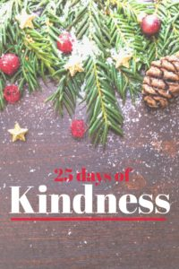 A list of 25 simple acts of kindness you and your family can perform this holiday season. I have included a free PDF download of the list, and easy way to do your own kindness advent calendar.