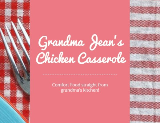 Comfort food straight from grandma's kitchen! Sometimes you just need a big bowl of chicken casserole.