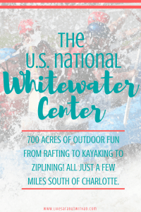 The Whitewater Center in Charlotte, NC is an awesome place to do some adventure sports like rafting, ziplining, or mountain biking. Or for those that prefer a slower pace: flat water kayaking or paddleboarding, plenty of hiking trails. When you are ready for refreshments grab a draft from a local brewery and watch the kayakers from the patio seating of the onsite restaurant.