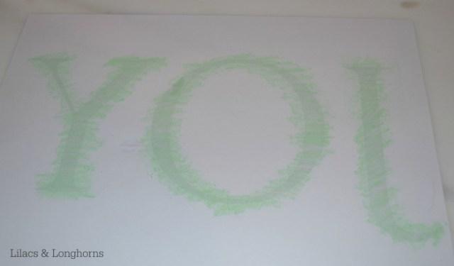 chalk transfer method