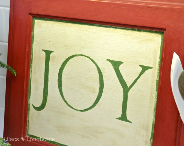 red and green joy sign