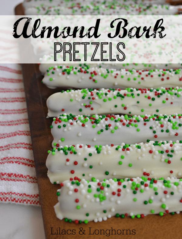 almond bark holiday pretzels