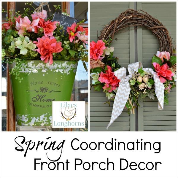 coordinating Spring door decor