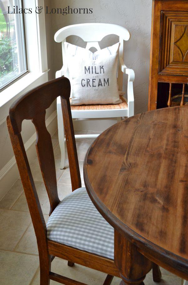 Gingham Check Chair Cushion   Lilacs U0026 Longhorns