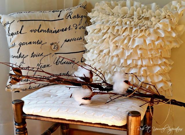 DIY ruffled pillow cover