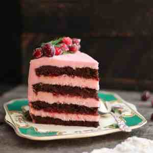 Cranberry Cherry Chocolate Layer Cake