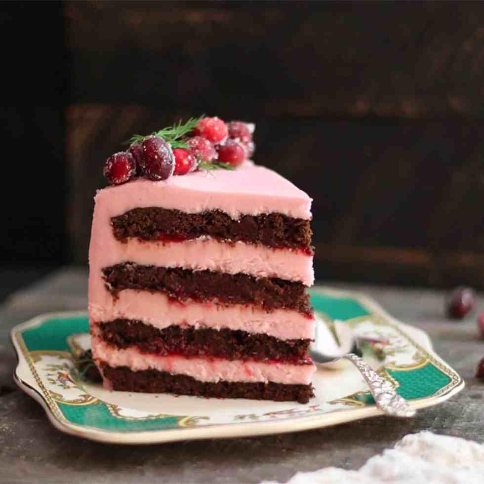 GF Choc Cran Cherry Cake main