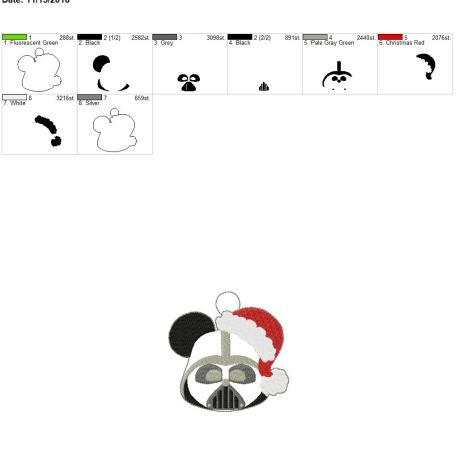 Darth Mouse Ornament 4×4