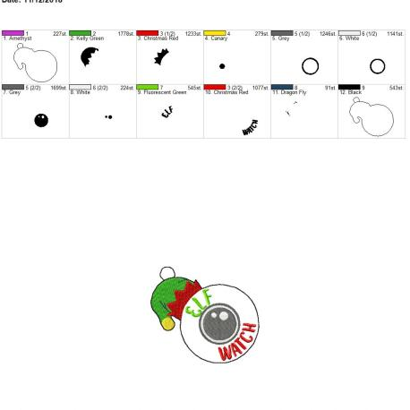 Elf watch ornament 4×4