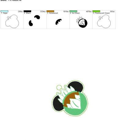 Flower Mouse Ornament 4×4