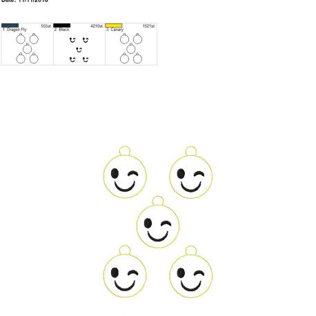 Smiley winky face zipper pull 5×7 grouped