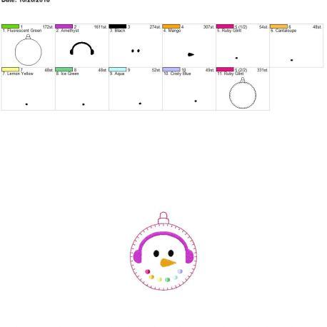 Snowman ornament 4×4