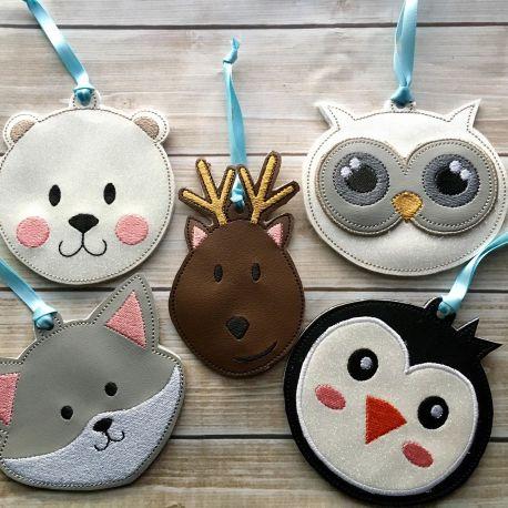 Winter friends ornaments