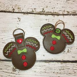 ITH – Gingerbread Mouse Fob 4×4 and 5×7 Grouped