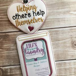 ITH -Helping Others Help Themselves Vertical ID Holder 5×7 only (Copy)