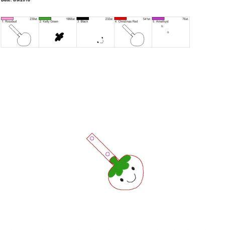 kawaii strawberry snap tab 4×4