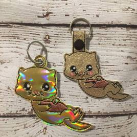 ITH Otter Snap Tab & Eyelet Fob 4×4 and 5×7 included- Embroidery Design – DIGITAL Embroidery DESIGN